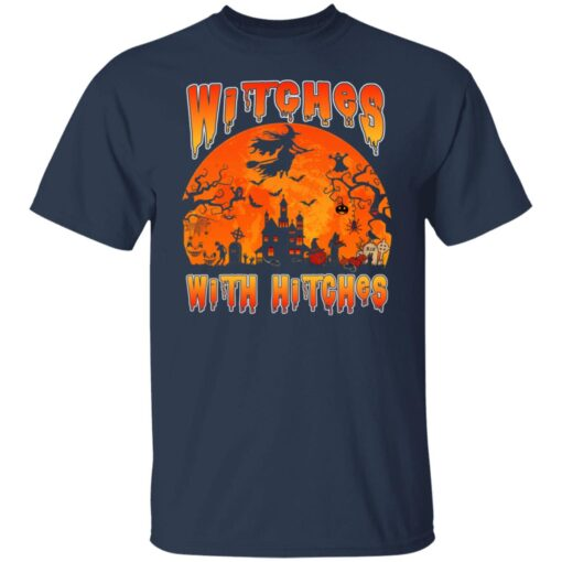 Womens Witches With Hitches Witch Funny Halloween Costume T-Shirt 4 of Sapelle
