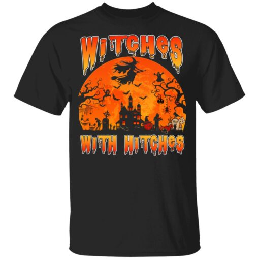 Womens Witches With Hitches Witch Funny Halloween Costume T-Shirt 6 of Sapelle