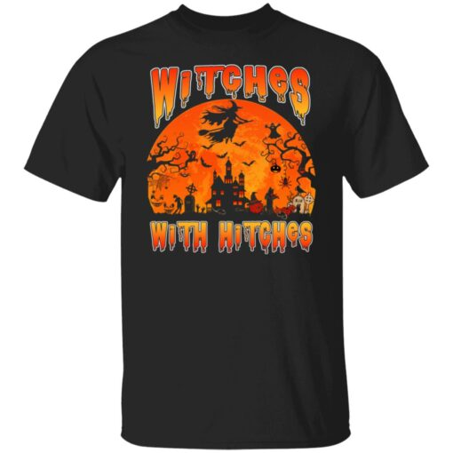 Womens Witches With Hitches Witch Funny Halloween Costume T-Shirt 1 of Sapelle
