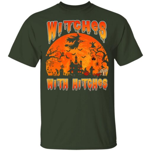 Womens Witches With Hitches Witch Funny Halloween Costume T-Shirt 7 of Sapelle