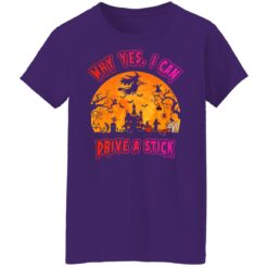 Why Yes, I can Drive A Stick Witch Funny Halloween Costume T-Shirt 36 of Sapelle