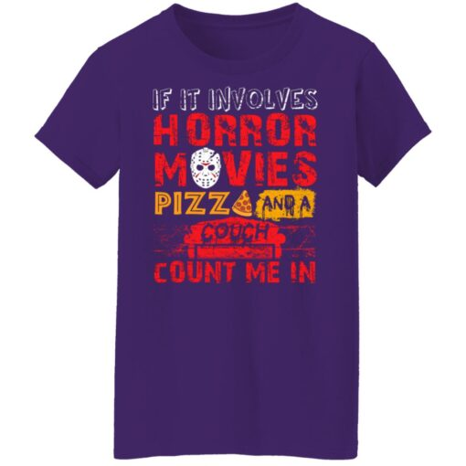 Halloween If It Involves Horror Movies PIZZA And A Couch T-Shirt 13 of Sapelle