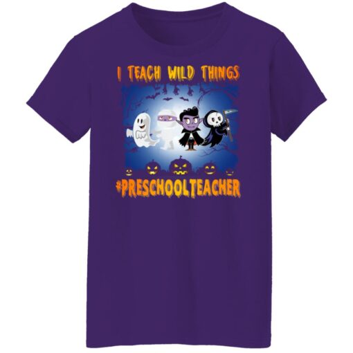 Funny Halloween Shirt I Teach Wild Things Preschool Teacher T-Shirt 13 of Sapelle