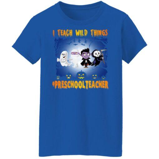 Funny Halloween Shirt I Teach Wild Things Preschool Teacher T-Shirt 14 of Sapelle