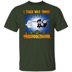 Funny Halloween Shirt I Teach Wild Things Preschool Teacher T-Shirt 17 of Sapelle