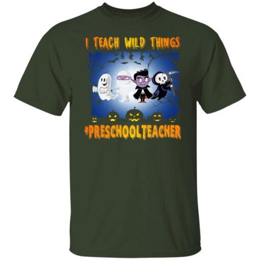 Funny Halloween Shirt I Teach Wild Things Preschool Teacher T-Shirt 3 of Sapelle