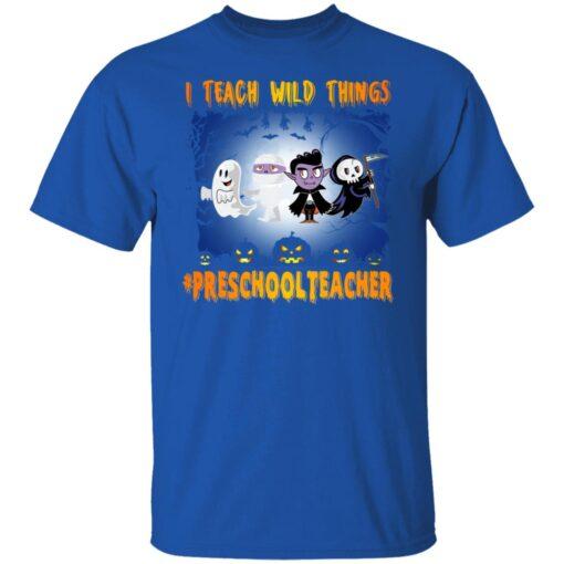 Funny Halloween Shirt I Teach Wild Things Preschool Teacher T-Shirt 5 of Sapelle