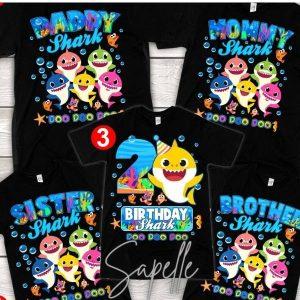 Baby Shark Birthday Shirt For Boy, Girl, Baby Shark T-Shirt Ideas 2021