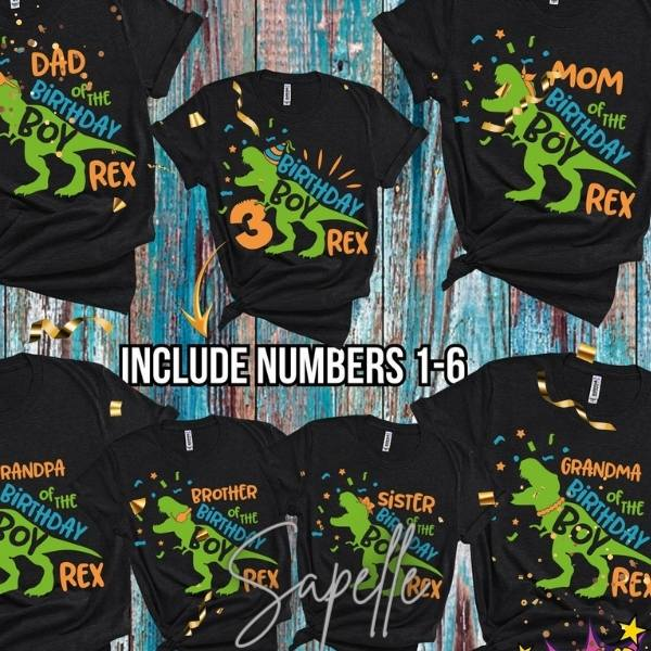 Dinosaur Birthday Shirt For Boy, Girl, Dinosaur T-Shirt Ideas 2021