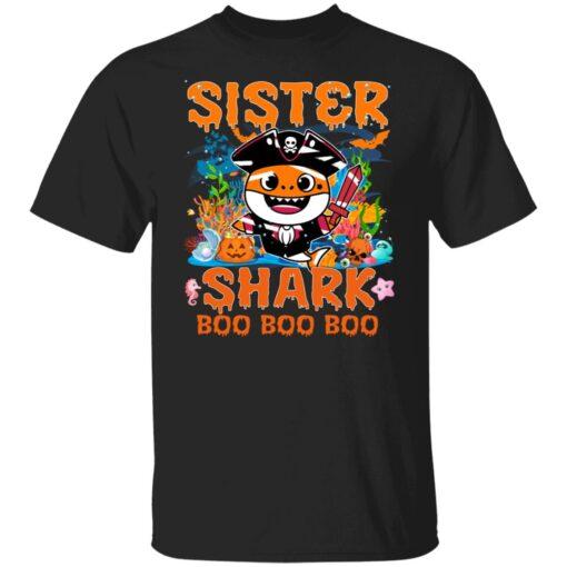 Family Birthday Ideas Sister Baby Shark Halloween Birthday T-Shirt 1 of Sapelle