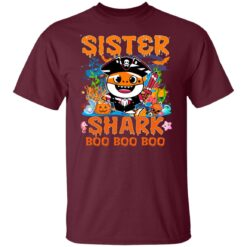 Family Birthday Ideas Sister Baby Shark Halloween Birthday T-Shirt 21 of Sapelle