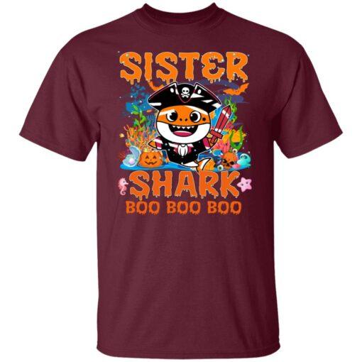 Family Birthday Ideas Sister Baby Shark Halloween Birthday T-Shirt 3 of Sapelle