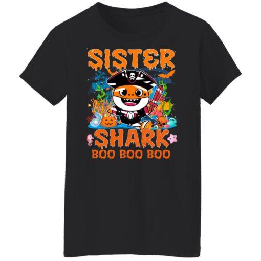 Family Birthday Ideas Sister Baby Shark Halloween Birthday T-Shirt 13 of Sapelle