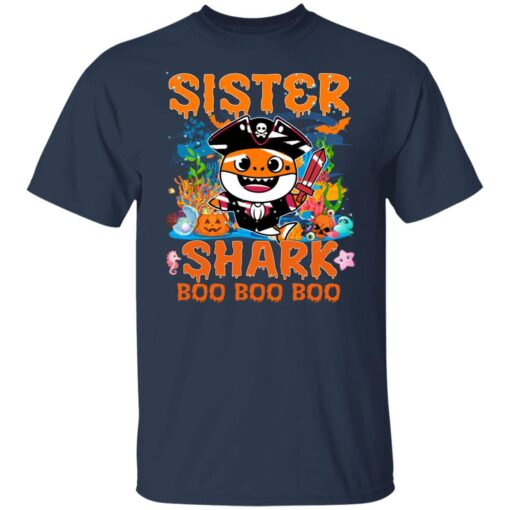 Family Birthday Ideas Sister Baby Shark Halloween Birthday T-Shirt 4 of Sapelle