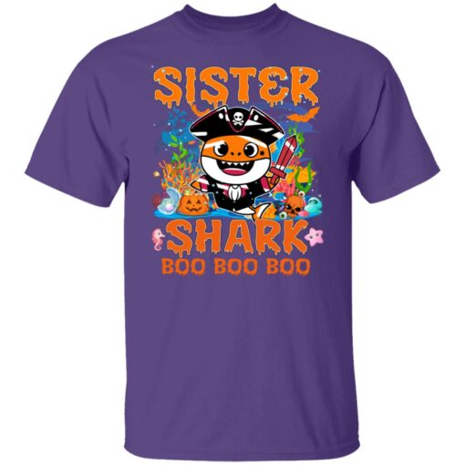 Family Birthday Ideas Sister Baby Shark Halloween Birthday T-Shirt 5 of Sapelle
