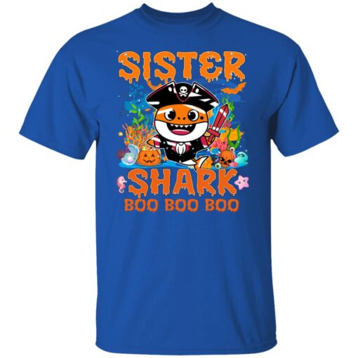 Family Birthday Ideas Sister Baby Shark Halloween Birthday T-Shirt 6 of Sapelle