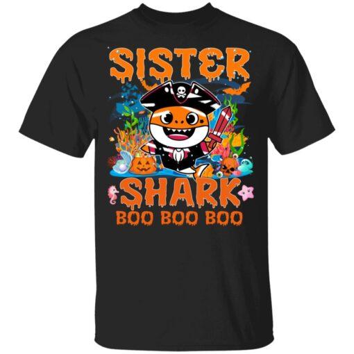 Family Birthday Ideas Sister Baby Shark Halloween Birthday T-Shirt 7 of Sapelle