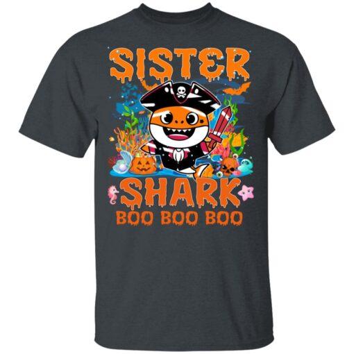 Family Birthday Ideas Sister Baby Shark Halloween Birthday T-Shirt 8 of Sapelle