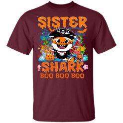 Family Birthday Ideas Sister Baby Shark Halloween Birthday T-Shirt 33 of Sapelle