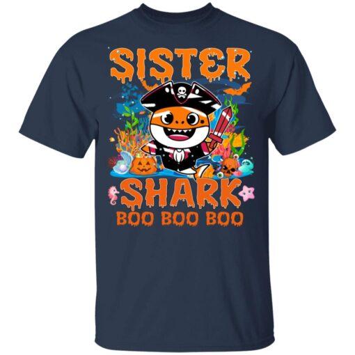 Family Birthday Ideas Sister Baby Shark Halloween Birthday T-Shirt 10 of Sapelle