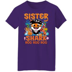 Family Birthday Ideas Sister Baby Shark Halloween Birthday T-Shirt 49 of Sapelle