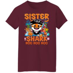 Family Birthday Ideas Sister Baby Shark Halloween Birthday T-Shirt 45 of Sapelle