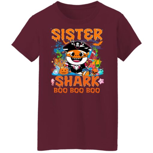 Family Birthday Ideas Sister Baby Shark Halloween Birthday T-Shirt 15 of Sapelle