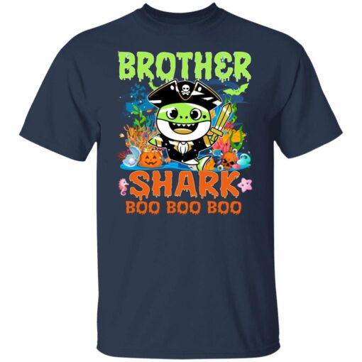 Family Birthday Ideas Brother Baby Shark Halloween Birthday T-Shirt 4 of Sapelle