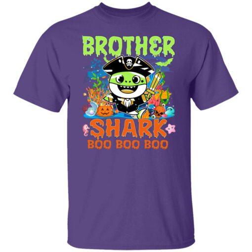 Family Birthday Ideas Brother Baby Shark Halloween Birthday T-Shirt 5 of Sapelle