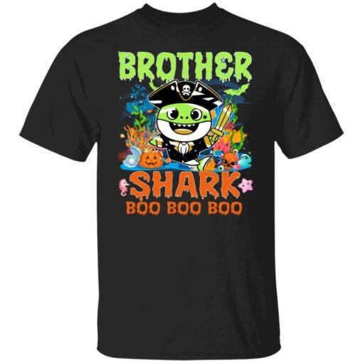 Family Birthday Ideas Brother Baby Shark Halloween Birthday T-Shirt 1 of Sapelle
