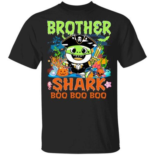 Family Birthday Ideas Brother Baby Shark Halloween Birthday T-Shirt 7 of Sapelle