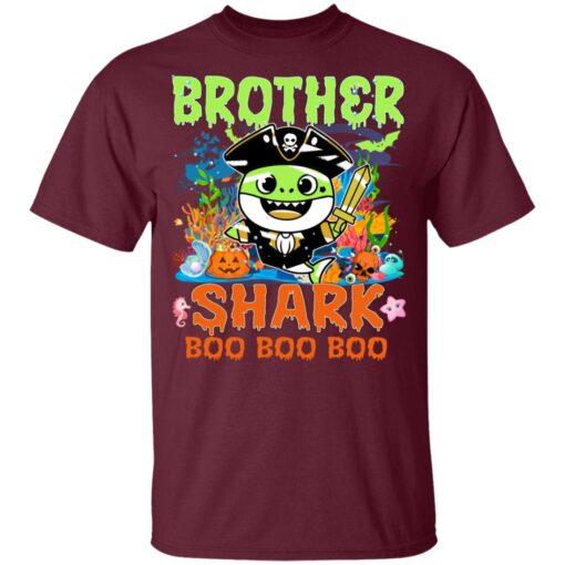 Family Birthday Ideas Brother Baby Shark Halloween Birthday T-Shirt 9 of Sapelle