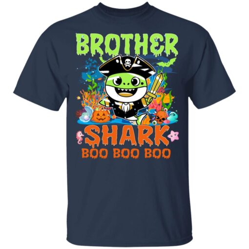 Family Birthday Ideas Brother Baby Shark Halloween Birthday T-Shirt 10 of Sapelle