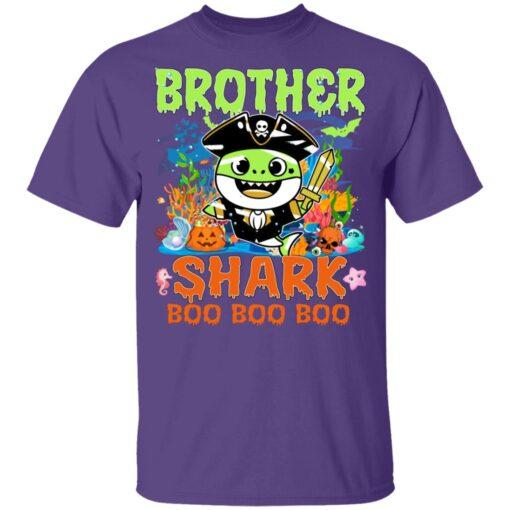 Family Birthday Ideas Brother Baby Shark Halloween Birthday T-Shirt 11 of Sapelle