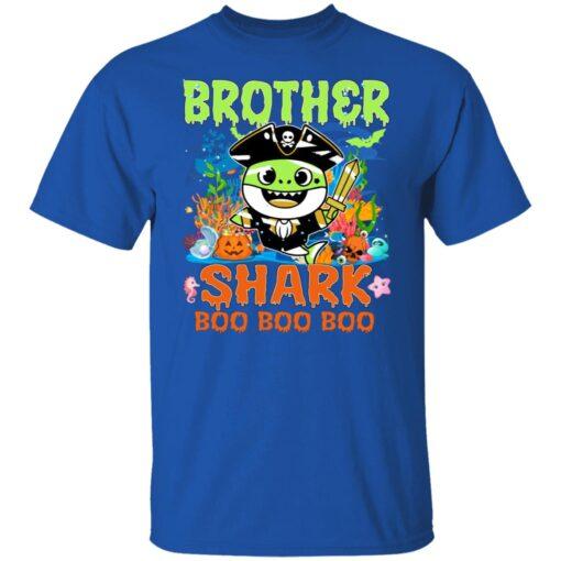 Family Birthday Ideas Brother Baby Shark Halloween Birthday T-Shirt 6 of Sapelle