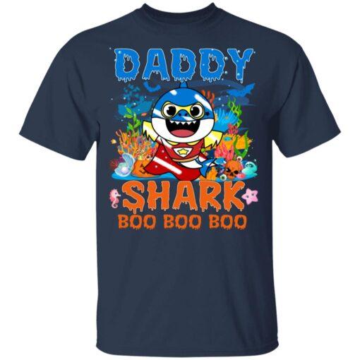 Family Birthday Ideas Daddy Baby Shark Halloween Birthday T-Shirt 10 of Sapelle