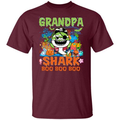 Family Birthday Ideas Grandpa Baby Shark Halloween Birthday T-Shirt 3 of Sapelle