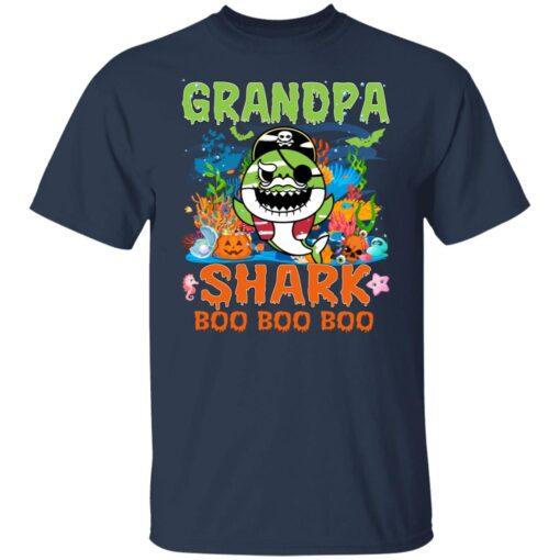 Family Birthday Ideas Grandpa Baby Shark Halloween Birthday T-Shirt 4 of Sapelle