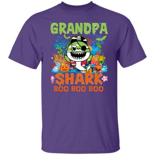 Family Birthday Ideas Grandpa Baby Shark Halloween Birthday T-Shirt 5 of Sapelle