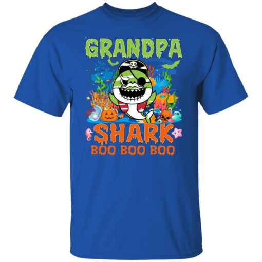 Family Birthday Ideas Grandpa Baby Shark Halloween Birthday T-Shirt 6 of Sapelle