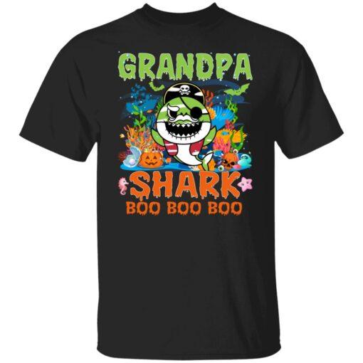 Family Birthday Ideas Grandpa Baby Shark Halloween Birthday T-Shirt 1 of Sapelle