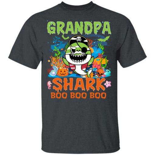 Family Birthday Ideas Grandpa Baby Shark Halloween Birthday T-Shirt 8 of Sapelle