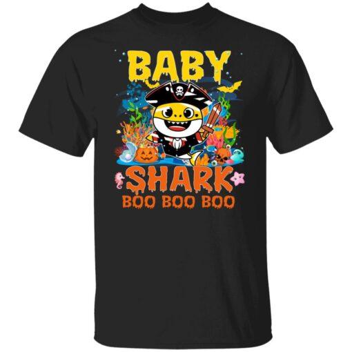 Family Birthday Ideas Baby Shark Boo Boo Halloween Birthday T-Shirt 1 of Sapelle