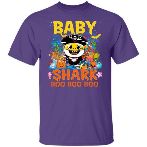 Family Birthday Ideas Baby Shark Boo Boo Halloween Birthday T-Shirt 5 of Sapelle