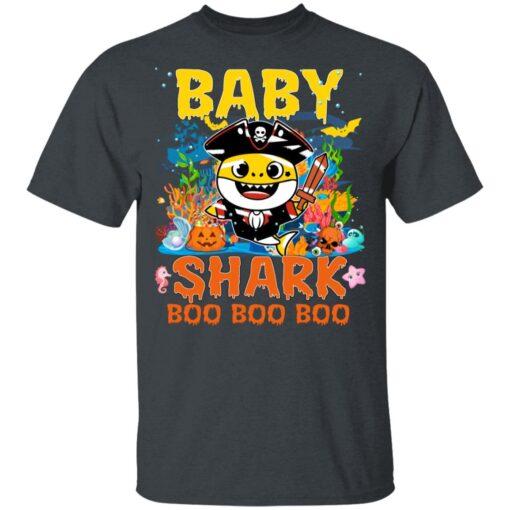 Family Birthday Ideas Baby Shark Boo Boo Halloween Birthday T-Shirt 8 of Sapelle