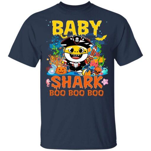 Family Birthday Ideas Baby Shark Boo Boo Halloween Birthday T-Shirt 10 of Sapelle