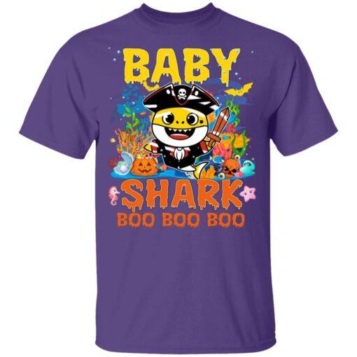 Family Birthday Ideas Baby Shark Boo Boo Halloween Birthday T-Shirt 11 of Sapelle