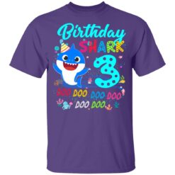 Baby Shark 3rd Birthday Shirt Boys Girls 3 Year Old Birthday T-Shirt 37 of Sapelle