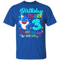 Baby Shark 3rd Birthday Shirt Boys Girls 3 Year Old Birthday T-Shirt 39 of Sapelle