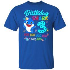 Baby Shark 3rd Birthday Shirt Boys Girls 3 Year Old Birthday T-Shirt 27 of Sapelle